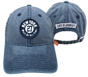 New York Most of All Time Washed Navy Hat with woven patch