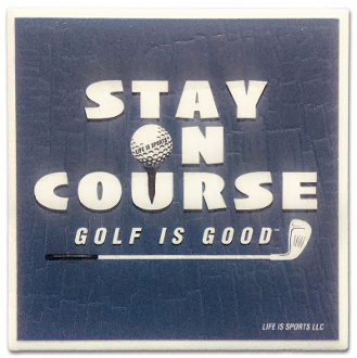 White Golf Is Good Icon Tile Coaster